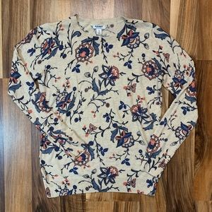 Old Navy Floral Print Sweater